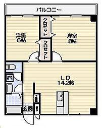 レジデンス横浜鶴見[103号室]の間取り