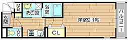 大阪府高槻市南松原町の賃貸マンションの間取り