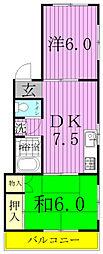 メゾンブランシュA[2階]の間取り