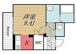 JR内房線 姉ヶ崎駅 徒歩7分の賃貸マンション 2階ワンルームの間取り