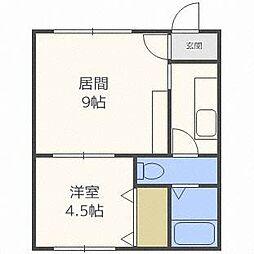 ?NEXT東札幌第2[4階]の間取り