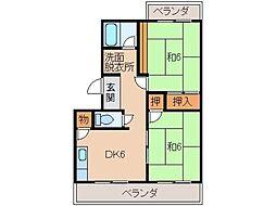第3広田マンション[3階]の間取り
