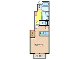 三重県四日市市大字茂福の賃貸アパートの間取り