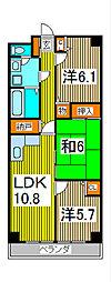 ルクソル浦和[1階]の間取り
