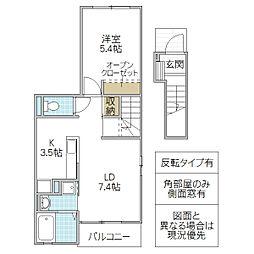 木村ロイヤルマンション VII[201号室号室]の間取り