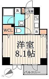 東京メトロ東西線 門前仲町駅 徒歩6分の賃貸マンション 10階1Kの間取り