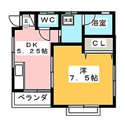 アレスト・ミネA[2階]の間取り