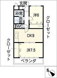 アーバンコートS1[1階]の間取り