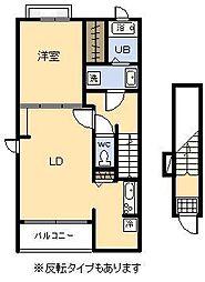 スイート スプリング Ⅱ[2階]の間取り