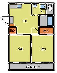 コートビレッジI[1階]の間取り