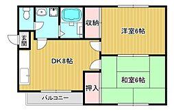 デアゼー12[1階]の間取り