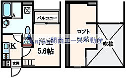 アベニール林寺[1階]の間取り