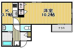 東京都品川区豊町2丁目の賃貸マンションの間取り
