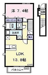 ライジングサン Ⅰ[2階]の間取り