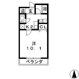 MMS−Ⅱ[5階]の間取り