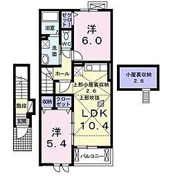 アバンツァートI[2階]の間取り