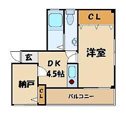 東京都墨田区亀沢2丁目の賃貸マンションの間取り