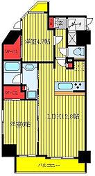 都営三田線 西巣鴨駅 徒歩8分の賃貸マンション 12階1DKの間取り