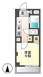 愛知県名古屋市昭和区川名本町2丁目の賃貸マンションの間取り