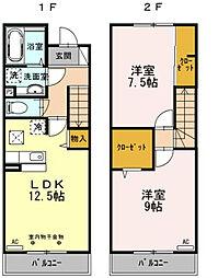 [テラスハウス] 東京都東久留米市下里7丁目 の賃貸【東京都 / 東久留米市】の間取り