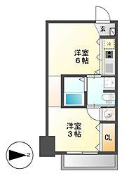 ラ・シュシュ覚王山[6階]の間取り
