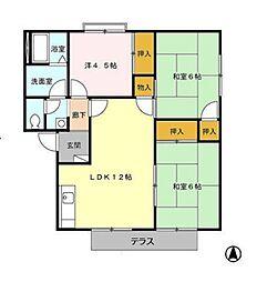リゾット花房 B棟[1階]の間取り