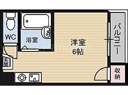 鴫野マンション[3階]の間取り