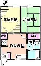 サンコーポ麻樹[103号室]の間取り