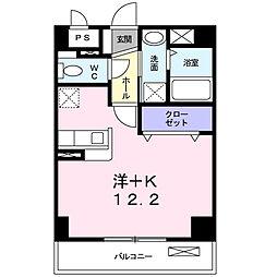 神奈川県平塚市真田の賃貸マンションの間取り