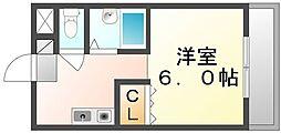 高松琴平電気鉄道長尾線 高田駅 徒歩32分の賃貸マンション 2階1Kの間取り
