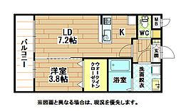 プレミールNakamaIII[2階]の間取り