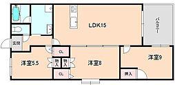 ロイヤルメゾン上野西[704号室]の間取り