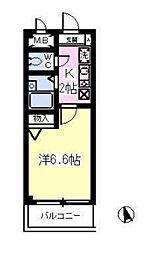 東京都江戸川区二之江町の賃貸マンションの間取り