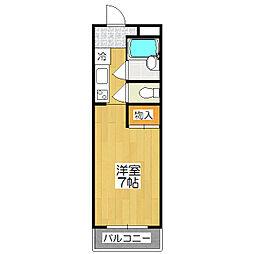 requie紫竹[404号室]の間取り