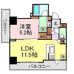 パークアクシス上野[6階]の間取り