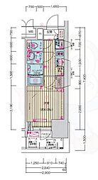名古屋市営鶴舞線 浅間町駅 徒歩7分の賃貸マンション 12階1Kの間取り