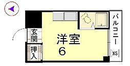 カーサ船岡山[202号室]の間取り
