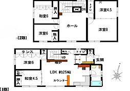 [一戸建] 北海道歌志内市字中村 の賃貸【/】の間取り