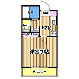 東京都昭島市福島町1の賃貸アパートの間取り