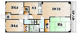 藤和ハイタウン企救丘駅前[4階]の間取り