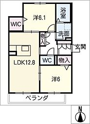 仮)シャーメゾン東又兵ヱ町[1階]の間取り