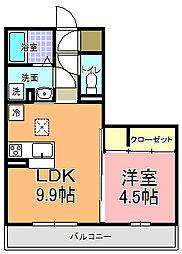 仮)D−room中成沢町[101号室]の間取り