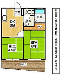 千草ハイツB[2階]の間取り