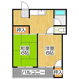 紫竹ハイム[2-C号室]の間取り