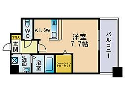 エンクレスト博多駅東2[8階]の間取り