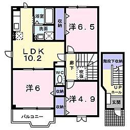 パルーデII[2階]の間取り
