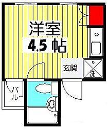 プレステージ横田[3階]の間取り