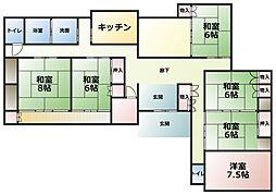 [一戸建] 愛媛県東温市則之内甲 の賃貸【/】の間取り