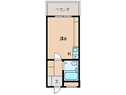 グランハイム新堀東[3階]の間取り