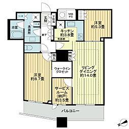 ザ・パークハウス西新宿タワー60[40階]の間取り